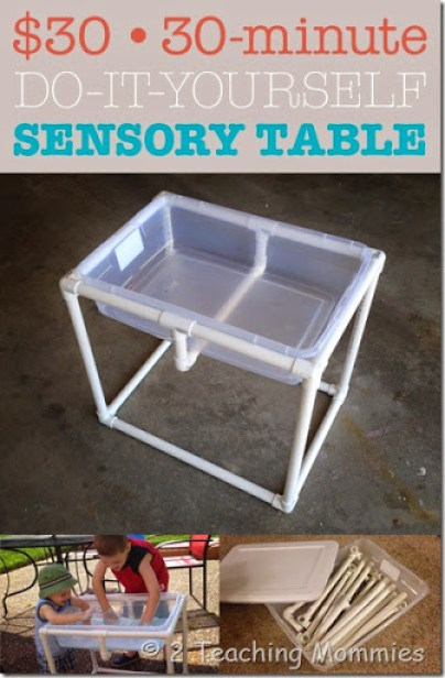 The 30 30 minute do it yourself sensory table a teaching mommy diy sensory table solutioingenieria Images