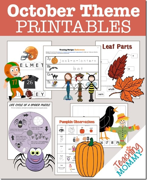 Free October Themed Printables