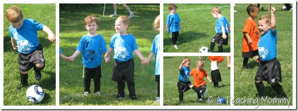 PeeWee Soccer Collage