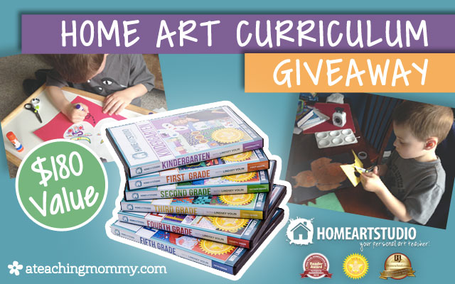 Don't miss this giveaway! Enter to win the Complete Home Art Studio Curriculum set! You and you're kids will love this easy to use art instruction.
