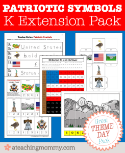 FREE Patriotic Symbols Kindergarten Activities