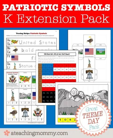 FREE Patriotic Symbols Kindergarten activities for your student! Go download it now!
