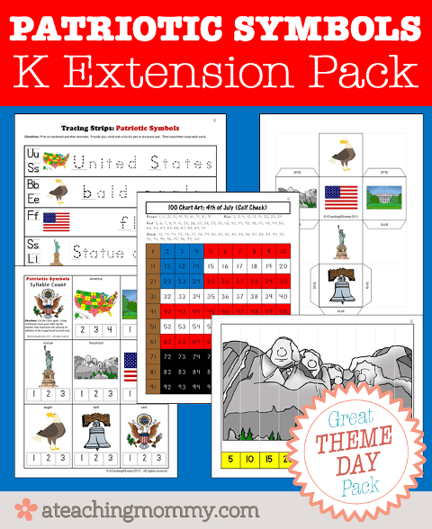 FREE Patriotic Symbols Kindergarten activities for your student! Go download it now!