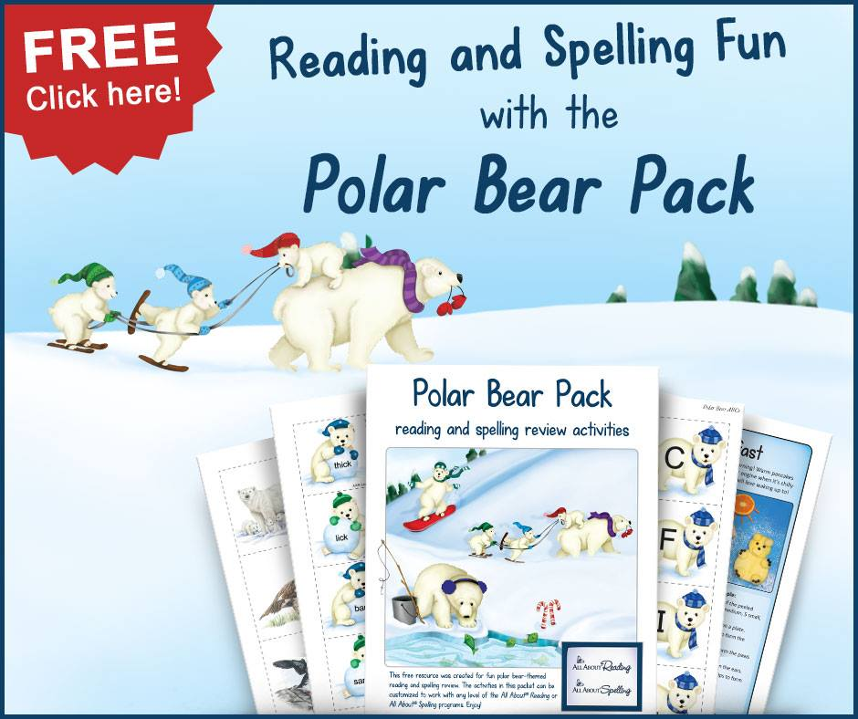 FREE Polar Bear Reading and Spelling Pack
