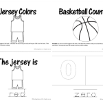 Basketball Counting and Color Books!