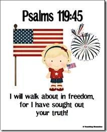 Psalm 119:45 Memory Verse Activities
