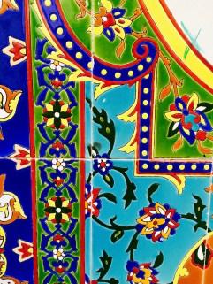 Details of tiles in Tehran