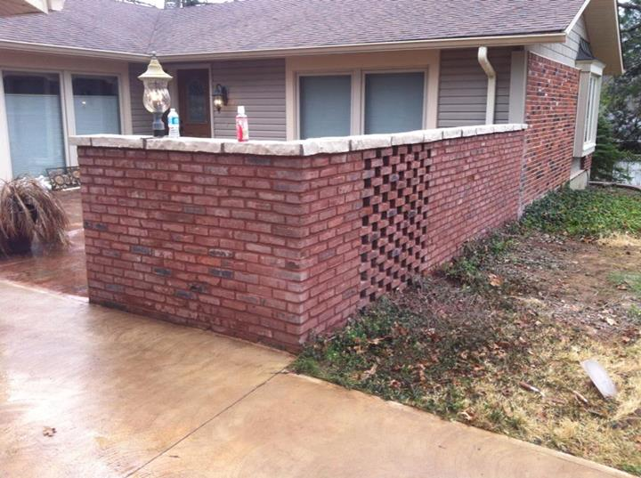 Brick Tuckpointing Before and After Pictures of Walls Patios and Walkways in Ladue and Ucity