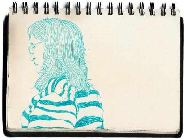 Maria Amelia caderno 2008 caneta bic