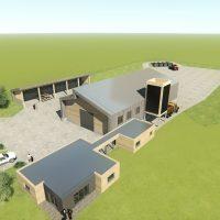 Construction d'un bâtiment d'activité artisanal à Domessin
