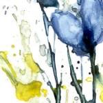 Blumenstudie - Aquarell