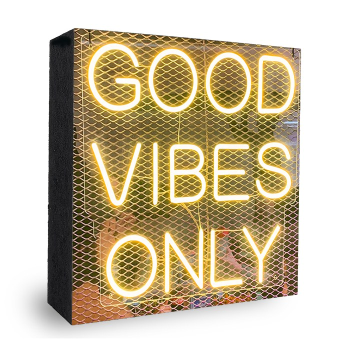 good vibes only neon Bild