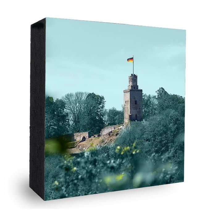 Falkensteiner Burg bunt-hellblau