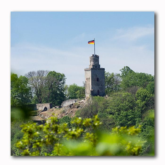 Falkenstein Burg Bild auf Holz