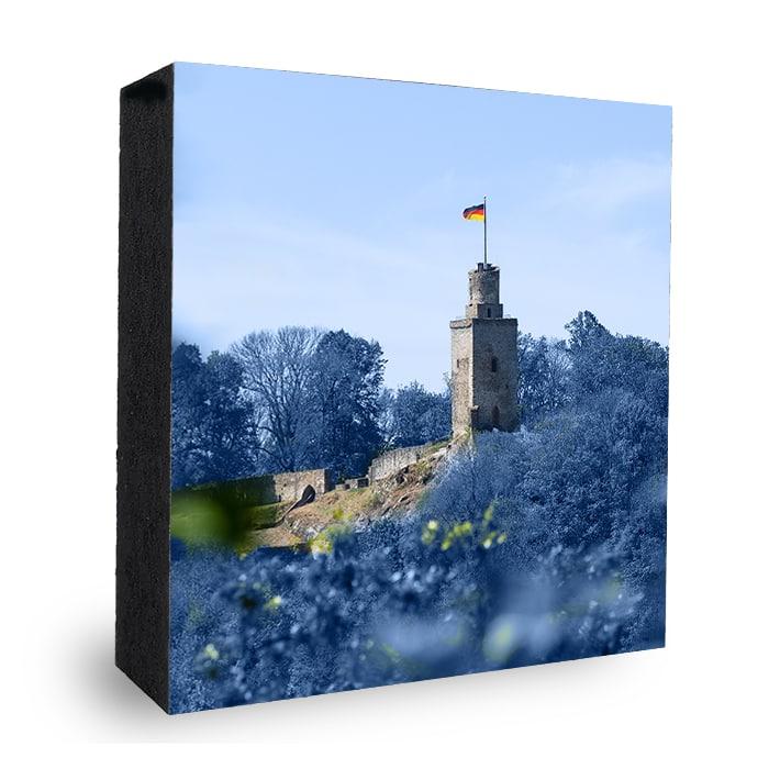 Falkensteiner Burg bunt - dunkelblau