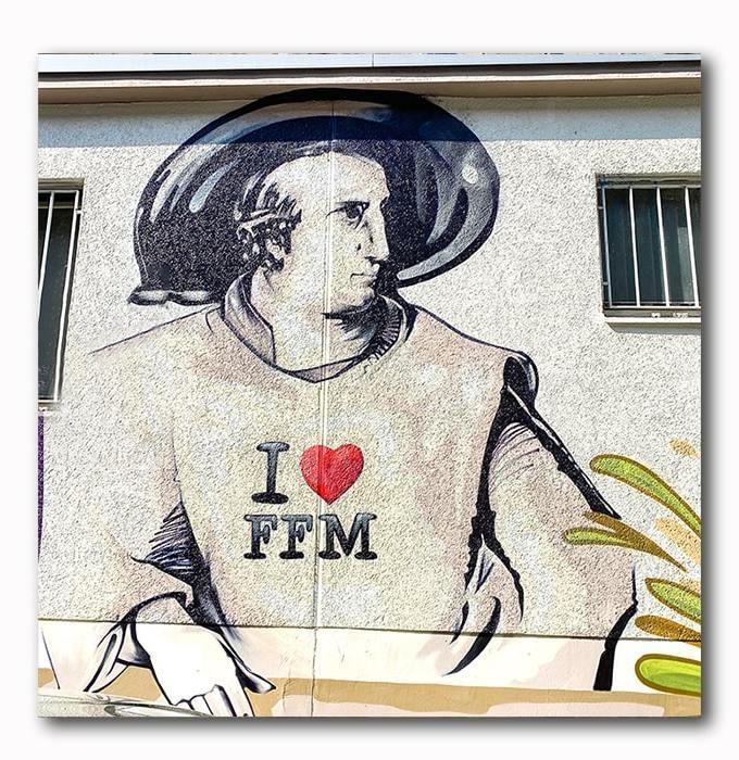 Goethe Graffiti Bild Atelier Klich Blick