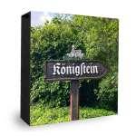 Königstein - Schild- Bild auf Holz Atelier Klick Blick