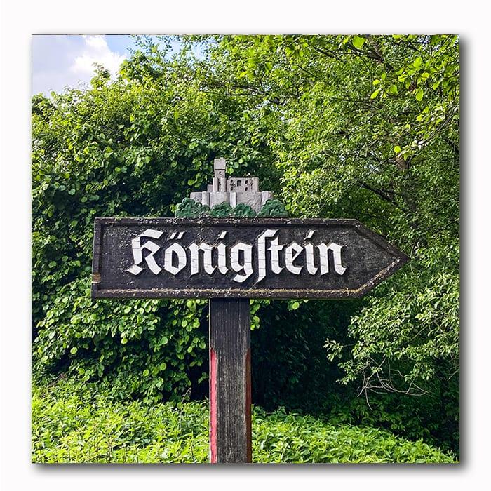 Königstein Schild
