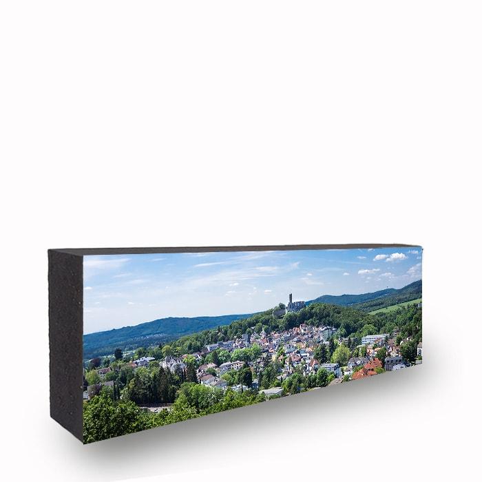 Königstein Panorama Blick Bild auf Holz