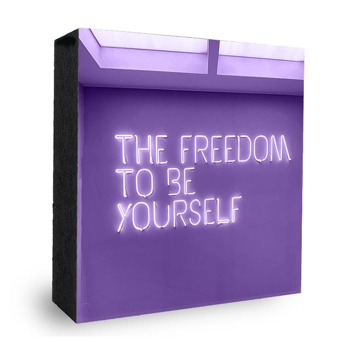 Bild Lila Freedom in Neonschrift