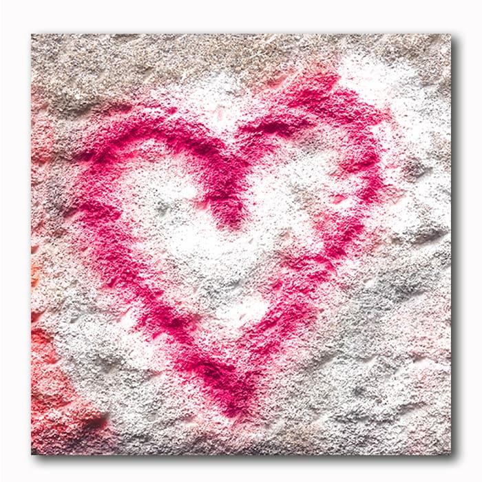 Herz Graffiti als Bild auf Holz