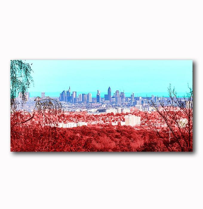 Skyline Frankfurt mordern Art