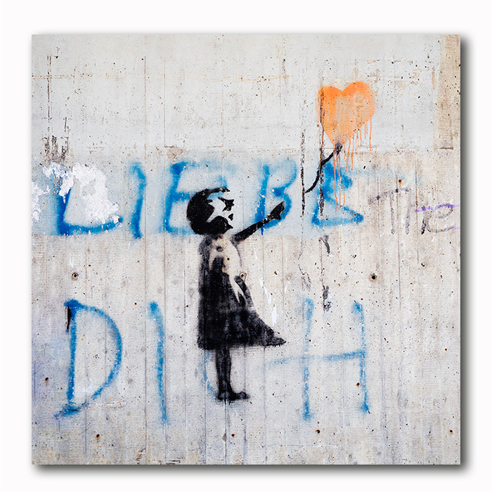 Banksy-Mädchen mit Ballon