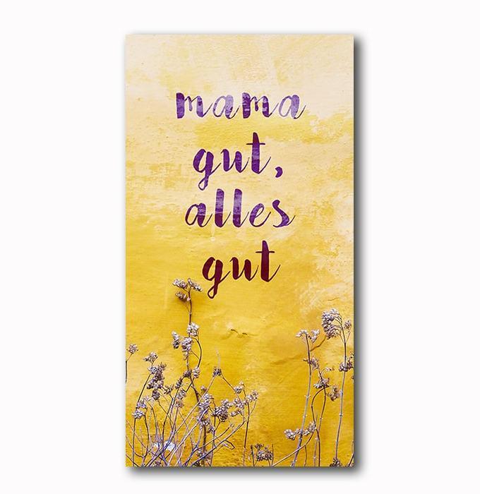Mama, Muttertag, Geschenk, Mama gut, Bild auf Holz