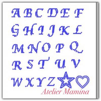 アルファベットラインストーン ホットフィックス
