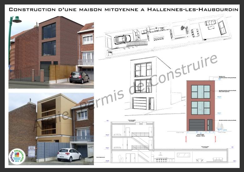 12.02. Atelier permis de construire Maison Hallennes Lez Haubourdin