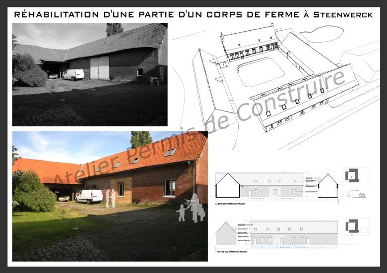 13.06. Atelier permis de construire - Transformation d'un grange en habitation à Steenwerck