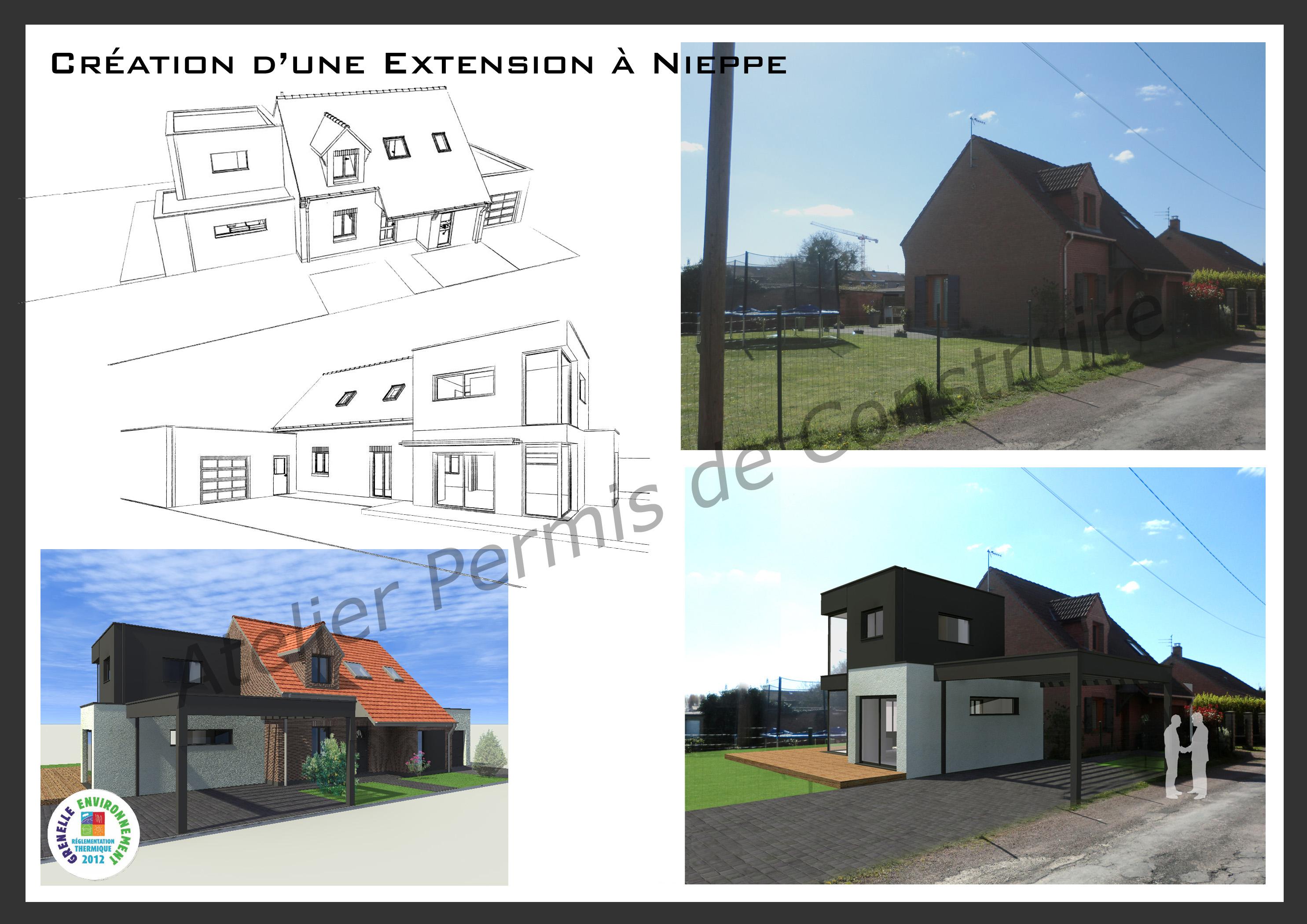 cr ation d 39 une extension moderne nieppe. Black Bedroom Furniture Sets. Home Design Ideas