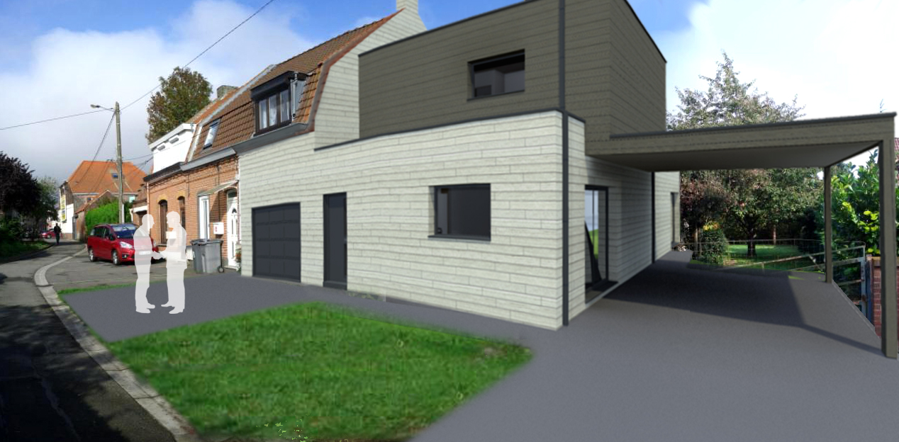 Cool plans permis de construire architecte plan maison for Construire maison en 3d
