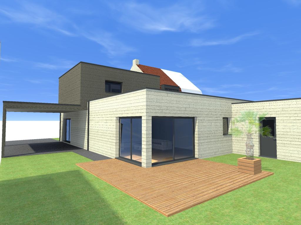 Plan architecte agrandissement maison maison moderne for Plan architecte maison moderne