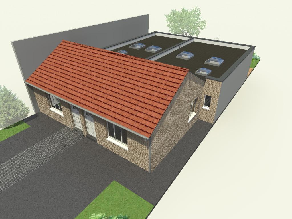 Extension et division d 39 une maison dunkerque - Extension maison permis de construire ...