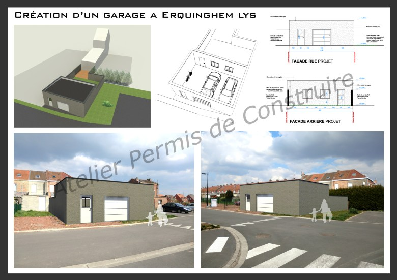 14.04 Permis de construire construction garage erquinghem lys