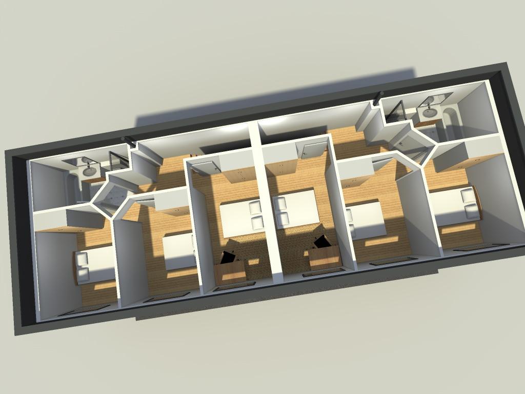 transformation d 39 un garage en 2 logements wattignies. Black Bedroom Furniture Sets. Home Design Ideas