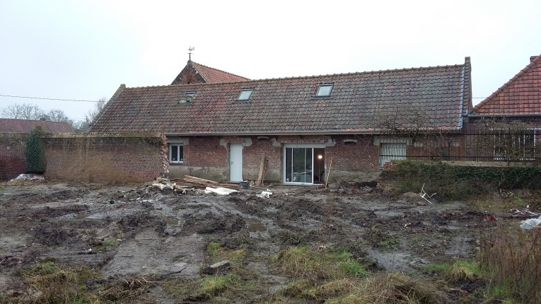 15.12 rénovation d'une grange Nord Permis de construire Fline-lez-raches16