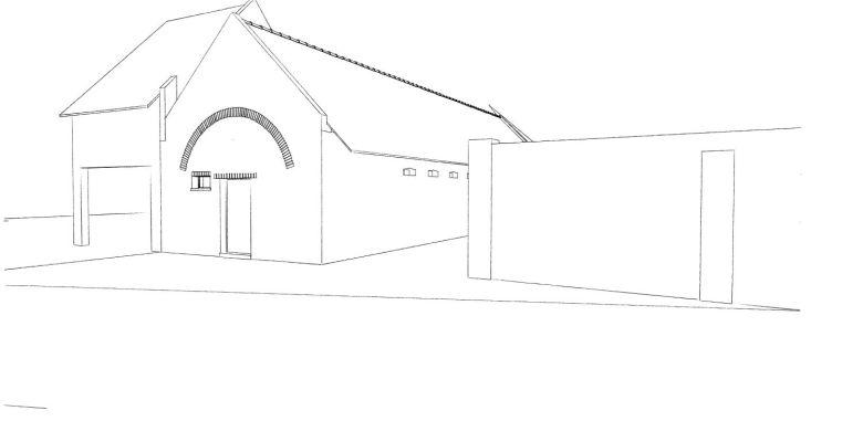 15.12 rénovation d'une grange Nord Permis de construire Fline-lez-raches6