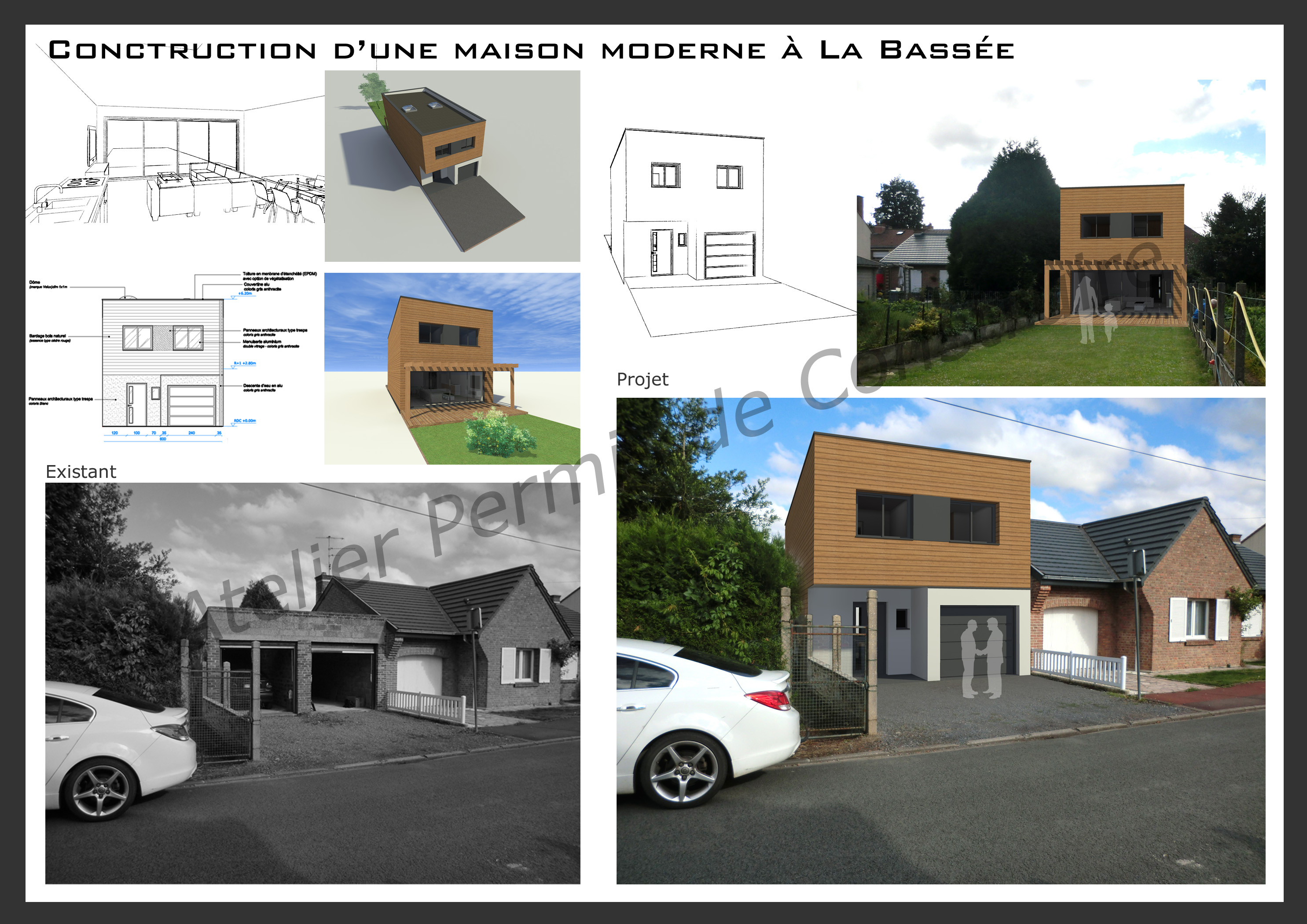 Construction d 39 une maison cube la bass e for Permis de construire maison