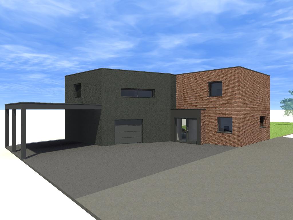 Extension d 39 une maison avec carport cysoing - Extension maison permis de construire ...