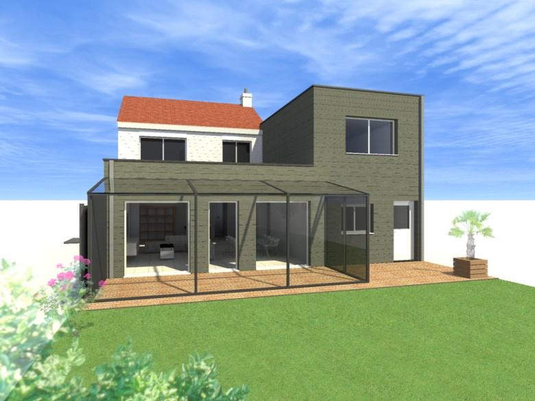 15.26 Extension maison permis de construire nord Valenciennes16