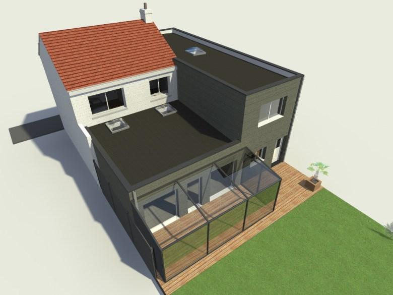 15.26 Extension maison permis de construire nord Valenciennes6