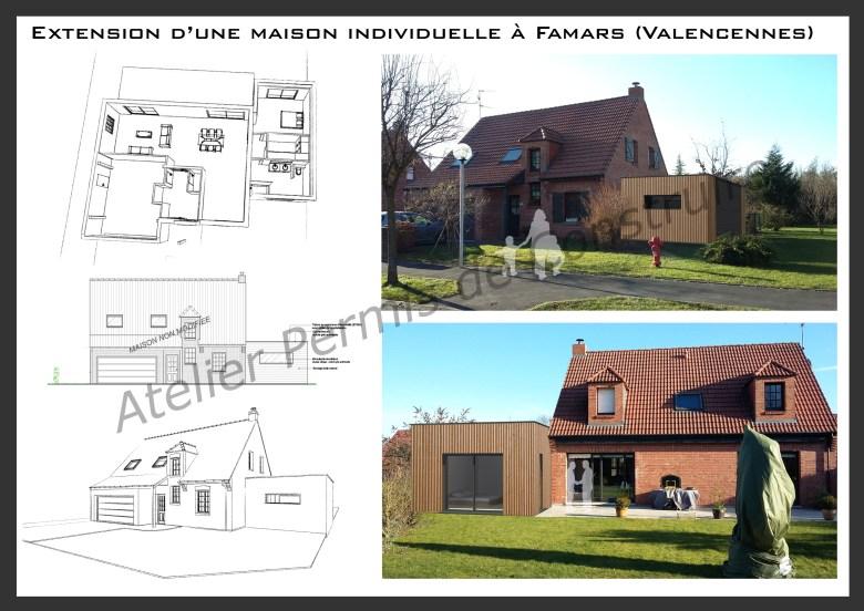 16.04 Extension maison permis de construire nord Famars