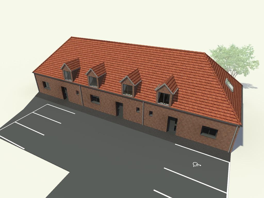 permis de construire pour la construction de 3 maisons group es templeuve. Black Bedroom Furniture Sets. Home Design Ideas