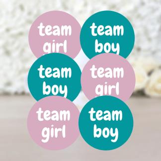 Etiquette Team Boy Ou Team Girl