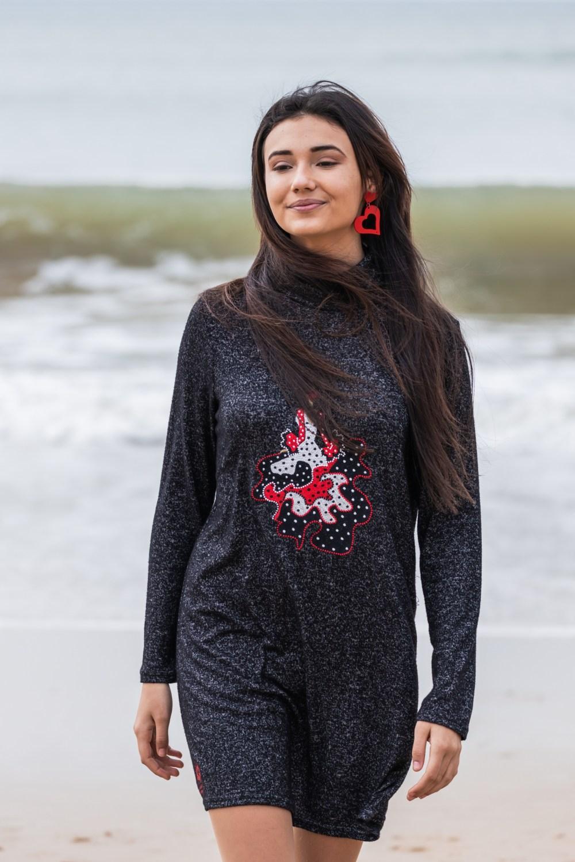 Vestido flamenca Atelier Rima negro 1