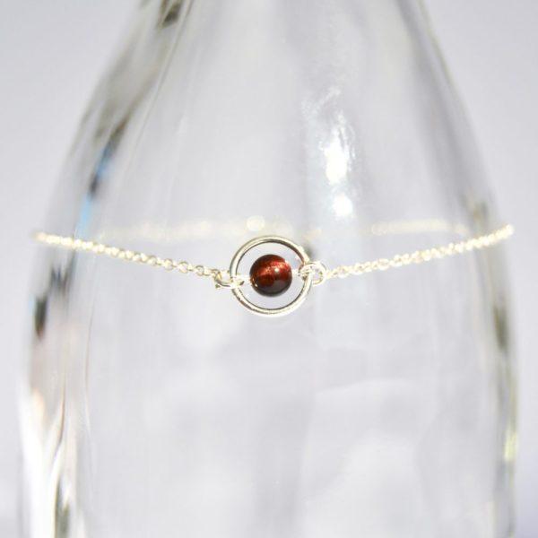 bijoux-pierre-argent-vrai-collier-funambule-lithotérapie-Oeil de taureau-2