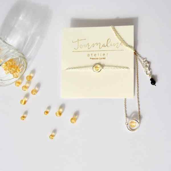 bijoux-pierre-argent-vrai-collier-funambule-lithotérapie-Citrine-1