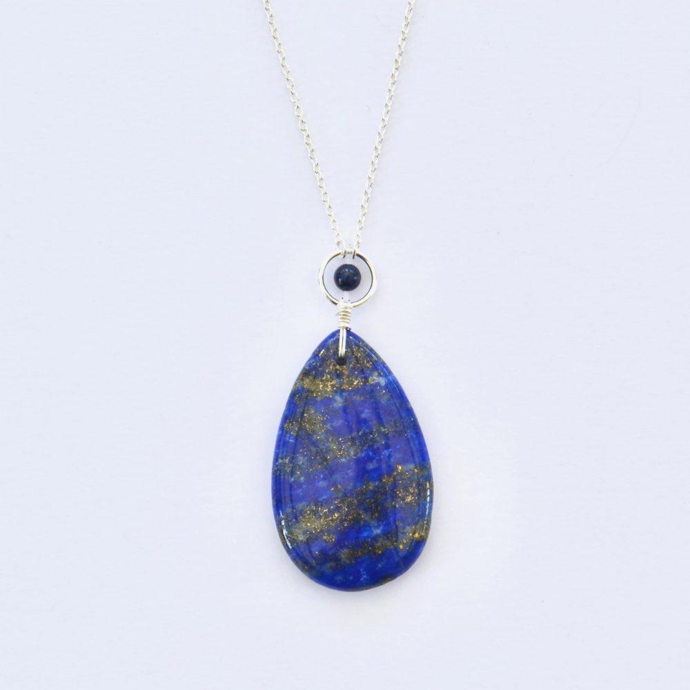 bijoux-pierre-argent-vrai-sautoir-lithotérapie-Lapis-lazuli-1